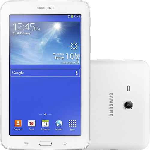 melhor Tablet Samsung Galaxy Tab 3 T110N Lite Android 4.2 Tela 7 Touchscreen Wi-Fi 8GB Branco